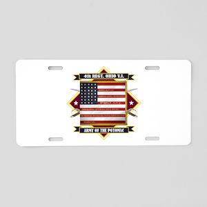 4th Ohio Volunteer Infantry Aluminum License Plate