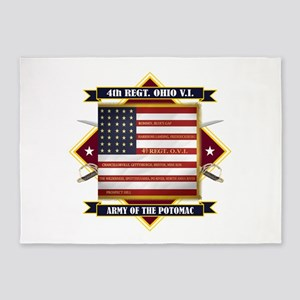 4th Ohio Volunteer Infantry 5'x7'Area Rug