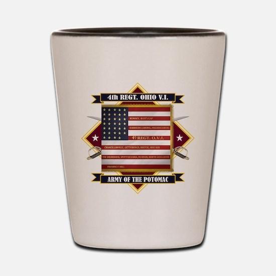 4th Ohio Volunteer Infantry Shot Glass