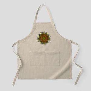 Yellow Fractal Wildflower Sunburst Apron