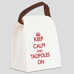 Keep Calm and Tadpoles ON Canvas Lunch Bag