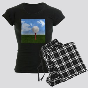 Golf Ball on Tee with Sky an Women's Dark Pajamas