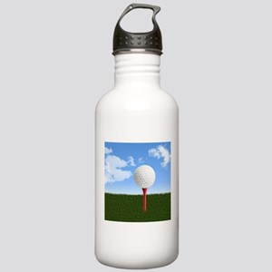 Golf Ball on Tee with Stainless Water Bottle 1.0L
