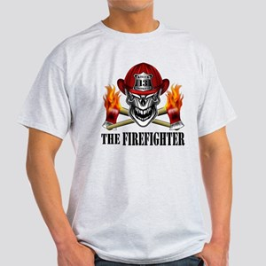 Firefighter Skull and Flaming Axes 10 T-Shirt