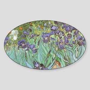 Van Gogh Irises, Vintage Post Impressionis Sticker