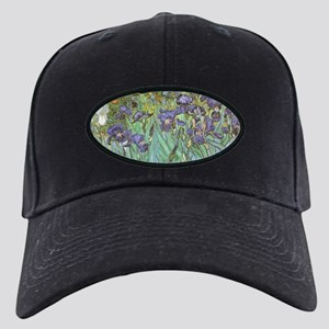 Van Gogh Irises, Vintage Post Impression Black Cap