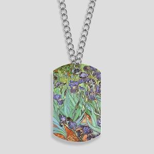 Van Gogh Irises, Vintage Post Impressioni Dog Tags