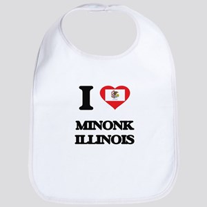 I love Minonk Illinois Bib