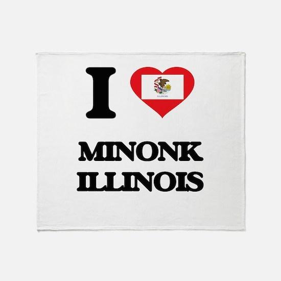 I love Minonk Illinois Throw Blanket