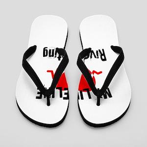 My Life Line River Rafting Flip Flops