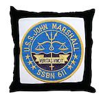 USS JOHN MARSHALL Throw Pillow