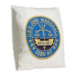 USS JOHN MARSHALL Burlap Throw Pillow