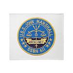 USS JOHN MARSHALL Throw Blanket