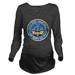 USS JOHN MARSHALL Long Sleeve Maternity T-Shirt