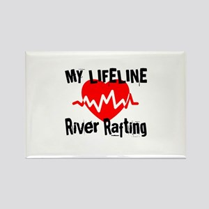 My Life Line River Rafting Rectangle Magnet
