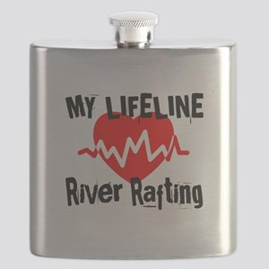 My Life Line River Rafting Flask