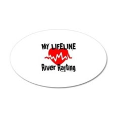 My Life Line River Rafting Wall Decal