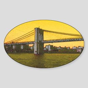 Retro Brooklyn Bridge Majestic NYC Ella's Sticker