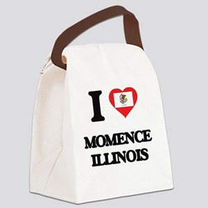 I love Momence Illinois Canvas Lunch Bag