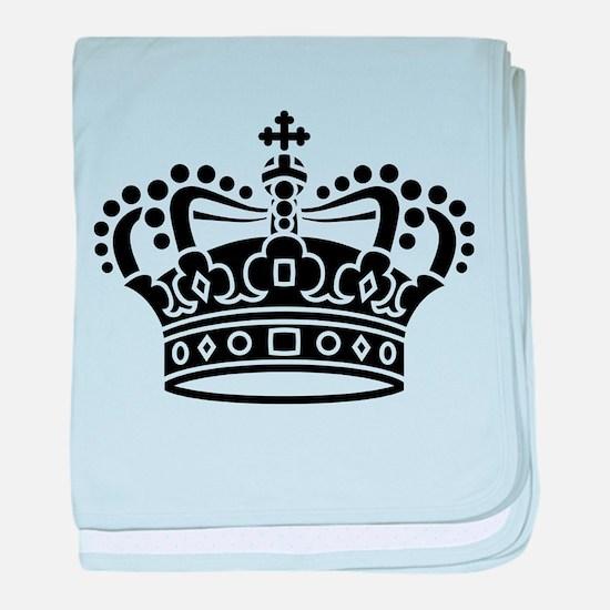 Royal Crown - Black baby blanket