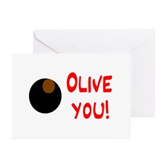 OLIVE YOU Greeting Cards (Pk of 20)