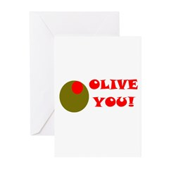 OLIVE YOU Greeting Cards (Pk of 10)