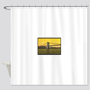 Retro Brooklyn Bridge Majestic NYC Shower Curtain
