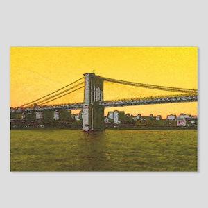 Retro Brooklyn Bridge Maj Postcards (Package of 8)