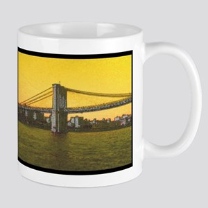 Retro Brooklyn Bridge Majestic NYC Ella's Fav Mugs