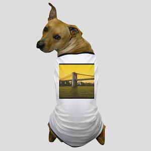 Retro Brooklyn Bridge Majestic NYC Ell Dog T-Shirt
