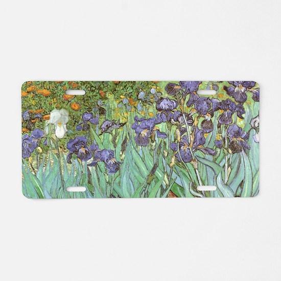 Van Gogh Irises, Vintage Po Aluminum License Plate