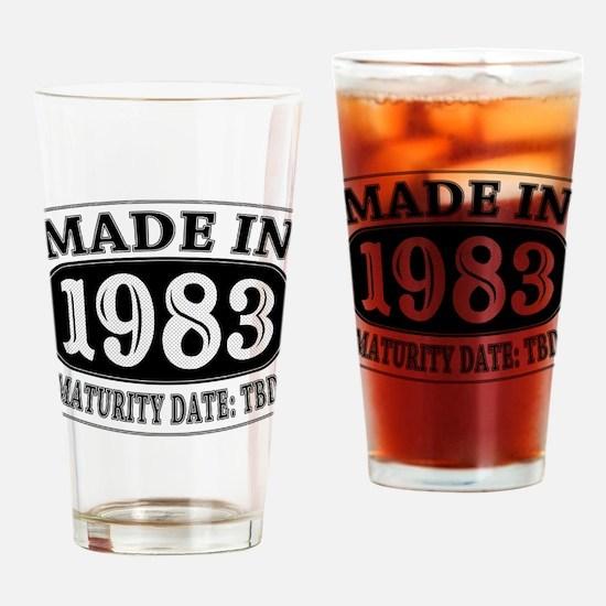 Made in 1983 - Maturity Date TDB Drinking Glass