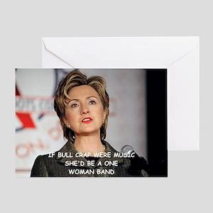 anti hillary clinton Greeting Card
