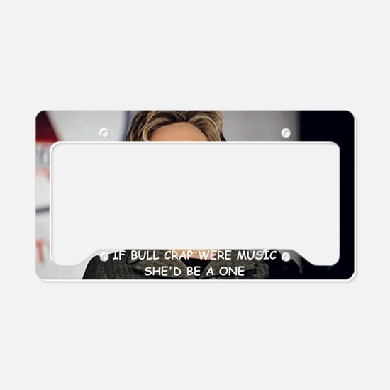 anti hillary clinton License Plate Holder