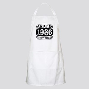 Made in 1986 - Maturity Date TDB Apron