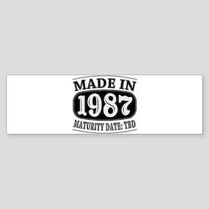 Made in 1987 - Maturity Date TDB Sticker (Bumper)