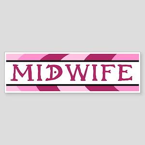 Plum Midwife Bumper Sticker
