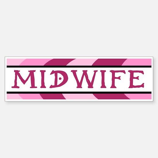 Plum Midwife Bumper Bumper Bumper Sticker