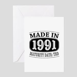 Made in 1991 - Maturity Date TDB Greeting Card