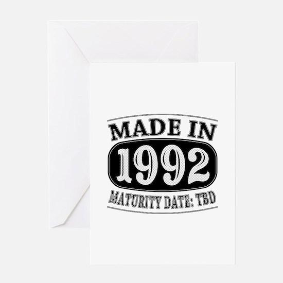 Made in 1992 - Maturity Date TDB Greeting Card