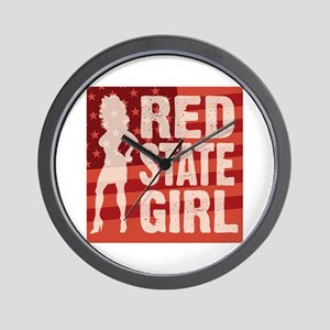 Red State Girl Wall Clock