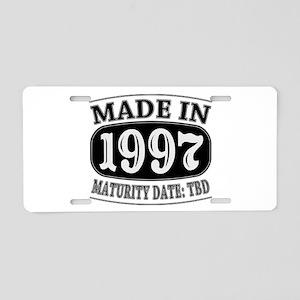 Made in 1997 - Maturity Dat Aluminum License Plate
