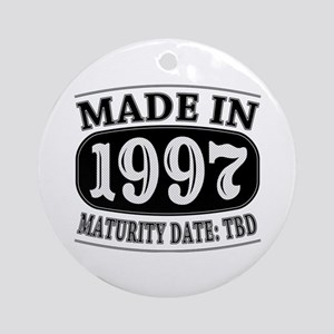 Made in 1997 - Maturity Date TDB Ornament (Round)