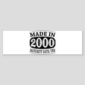Made in 2000 - Maturity Date TDB Sticker (Bumper)