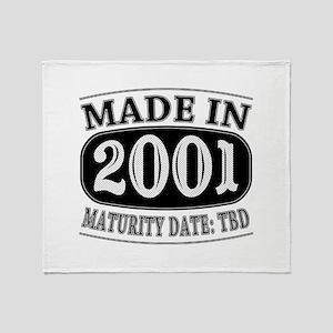 Made in 2001 - Maturity Date TDB Throw Blanket