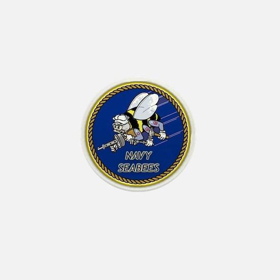 Funny Seabees Mini Button