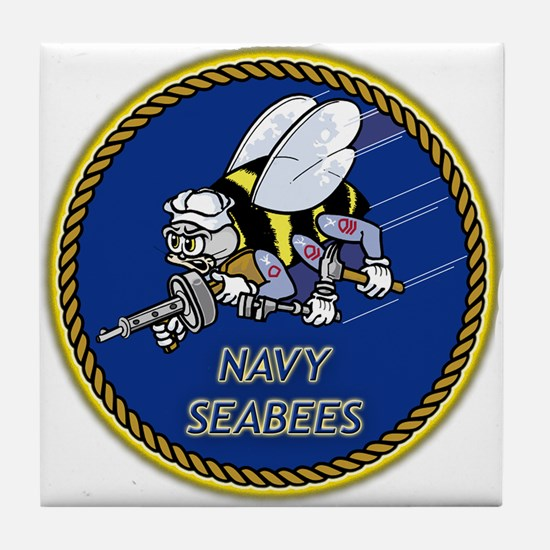 Cute Seabees Tile Coaster