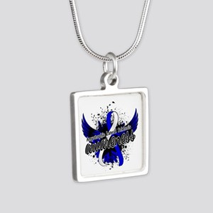 ALS Awareness 16 Silver Square Necklace