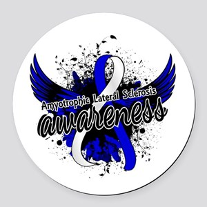 ALS Awareness 16 Round Car Magnet