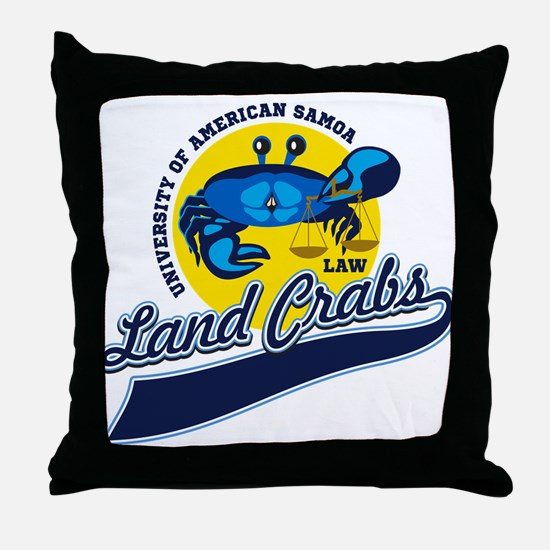 Land Crabs Law Throw Pillow